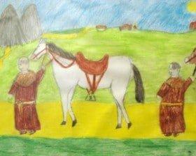 Rysunek Basi Borcuch z Kielc