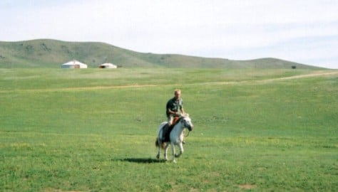 Łukasz w Mongolii
