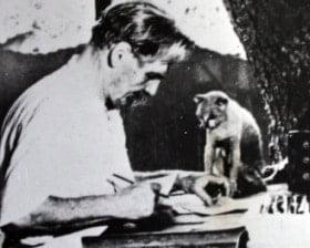 Albert Schweitzer z przyjacielem