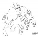 Słoń kroczy przez dżunglę...