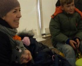 W zimową sobotę w namiocie