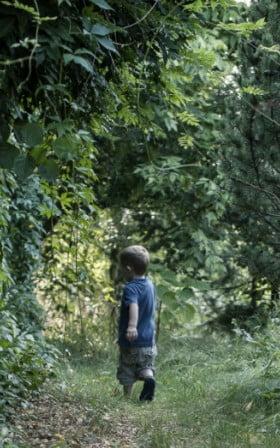 Jonasz w ogrodzie (fot. Katarzyna Drejling)