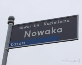 Skwer im. Kazimierza Nowaka (fot. Janusz Ludwiczak)