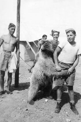 Jan Majcher i Wojtek w Iraku (fot. ze zbiorów pani Grażyny Zimny)