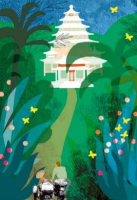 """Porcelanowy Pałac (ilustracja Marianny Oklejak z książki """"Machiną przez Chiny"""")"""