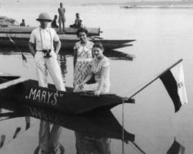 Goście na pokładzie Maryś w Port Francqui