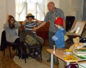 Na spotkaniu z dziećmi niesłyszącymi