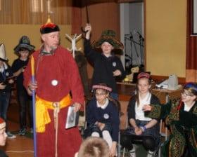 Benedykt Polak w Szkole Sióstr Niepokalanek w Warszawie