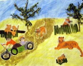 """Ilustracja do """"Machiną przez Chiny""""? Tak. Dziękuję uczniom szkoły w Starym Bojanowie!"""