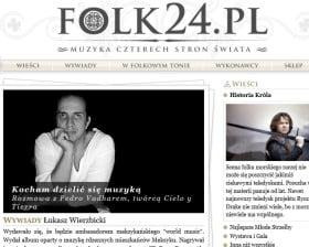"""""""Kocham dzielić sie muzyką"""" (folk24.pl)"""