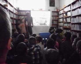 W bibliotece w Gliniance