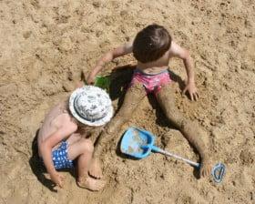 Na plaży w Gliniankach